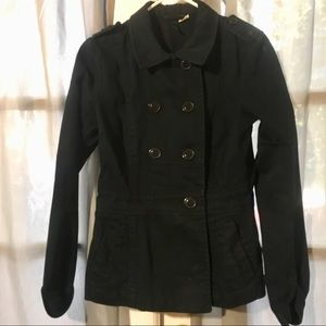 Fitted Black H&M Cotton Button Down Jacket!!!!